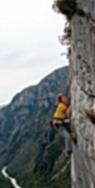 Ute Hüller beim Bergsteiger - Training der DiBaB GmbH im Gebiet Verdon