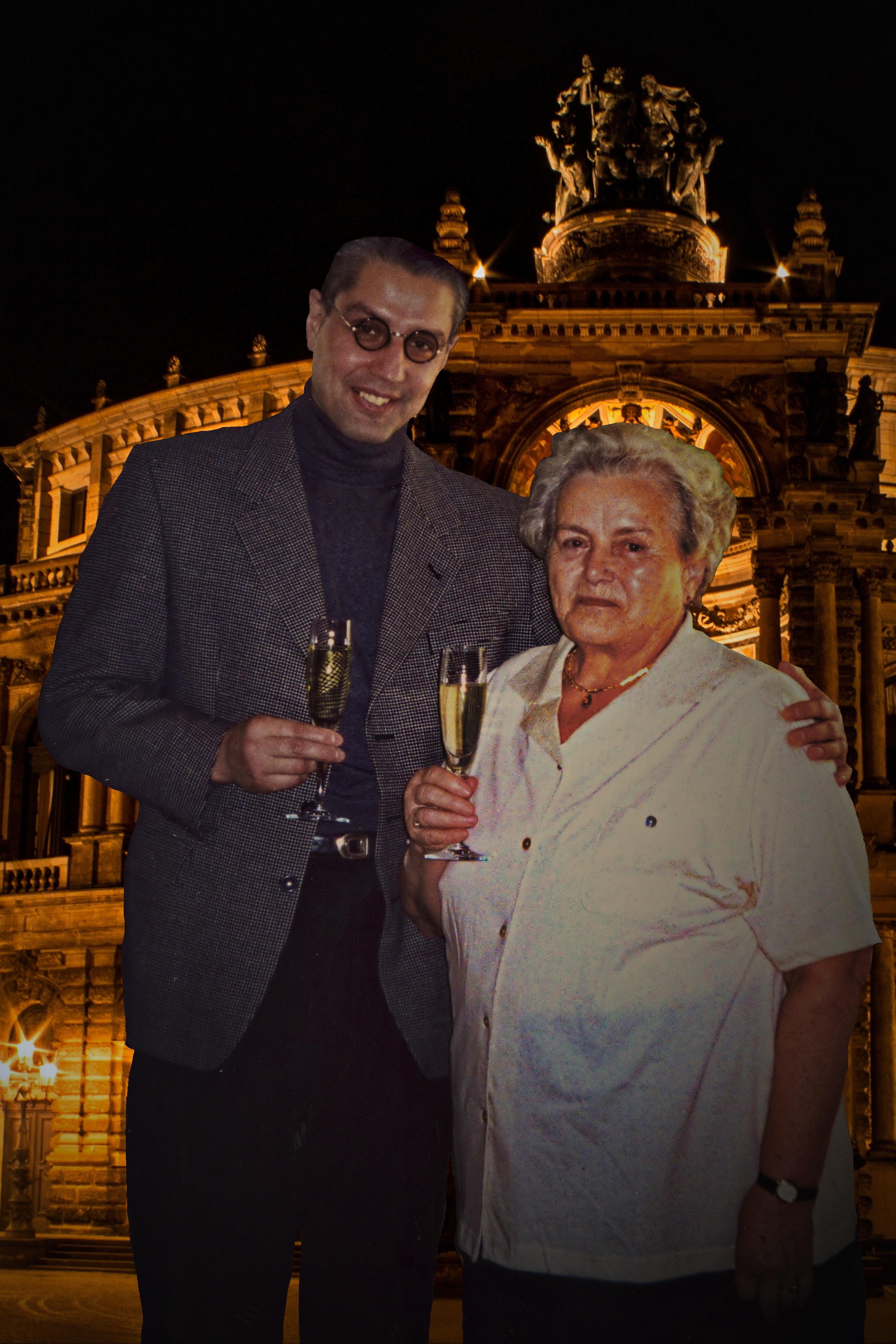 André Hüller mit Mutter Ruth Hüller 1999