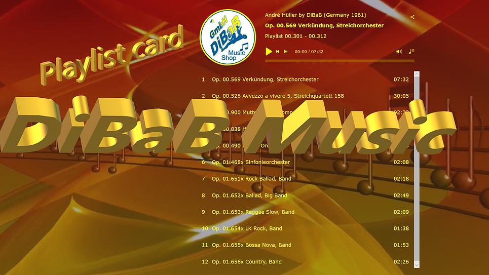 Playlist 00.301-00.312, DiBaB Music Shop