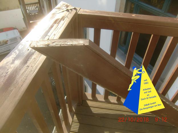 Balkon, reparieren, Dresden, streichen, ohne Gerüst, Geländer, dibab