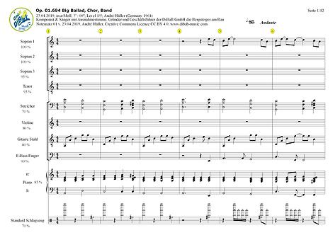 Op. 01.694 2019042301 Big Ballad, Chor, Band