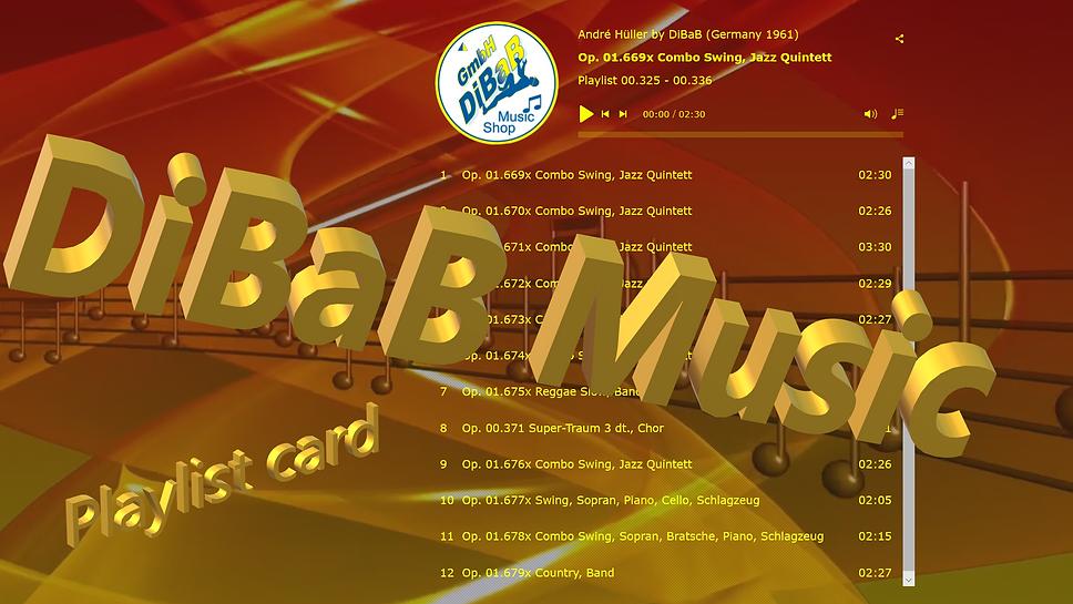 Playlist 00.325-00.336, DiBaB Music Shop