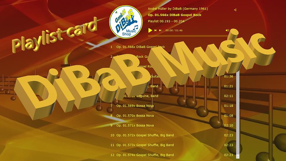 Playlist 00.193-00.204, DiBaB Music Shop