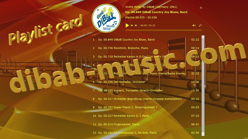 Playlist 00.025-00.036, DiBaB Music Shop