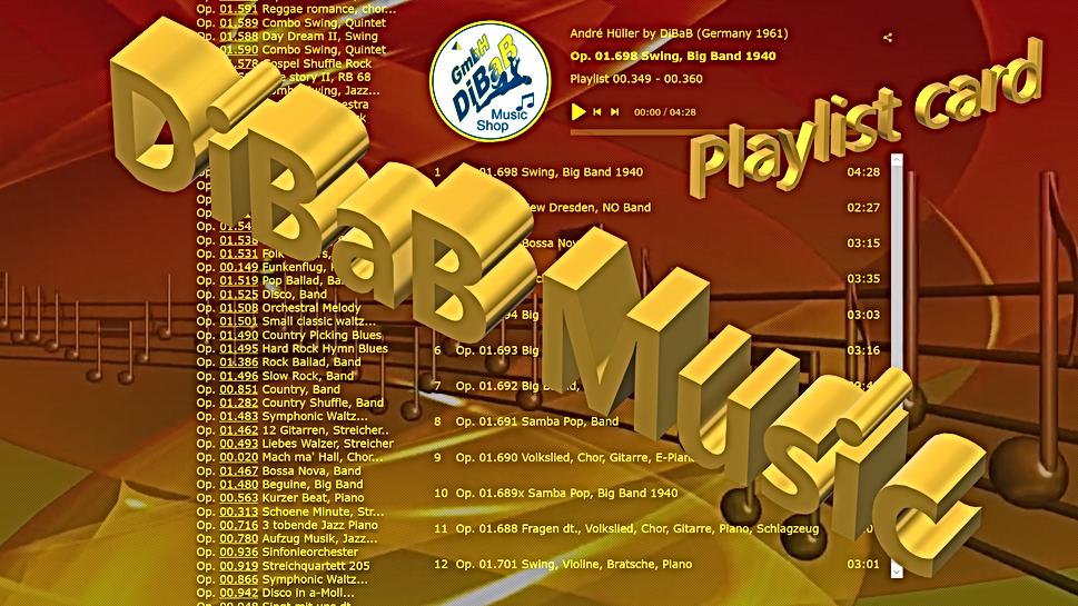 Playlist 00.349-00.360, DiBaB Music Shop