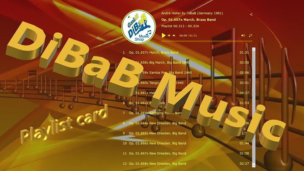 Playlist 00.313-00.324, DiBaB Music Shop