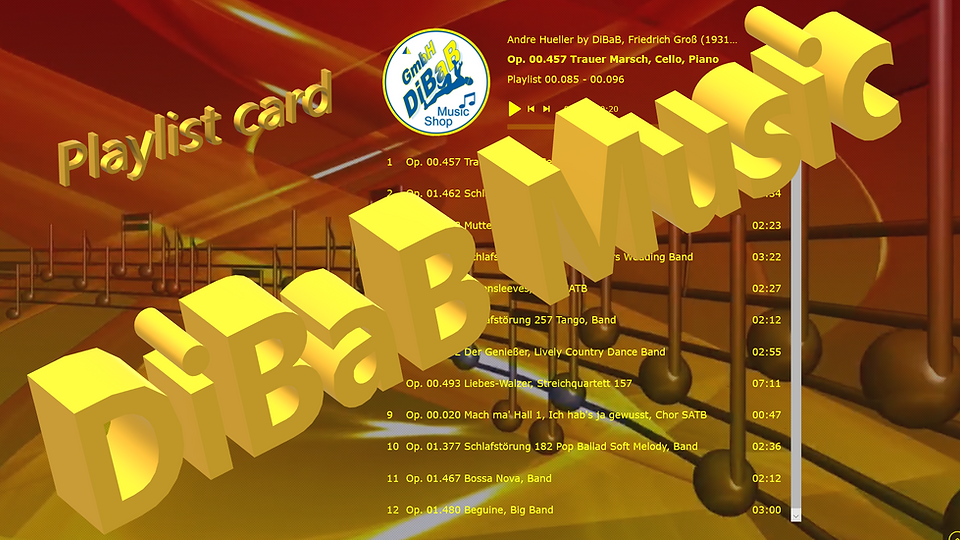 Playlist 00.085-00.096, DiBaB Music Shop