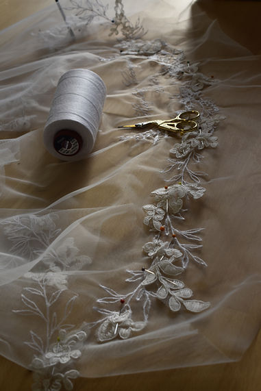 handsewing veil