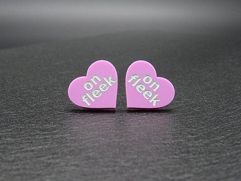 Mini Heart ON FLEEK violet