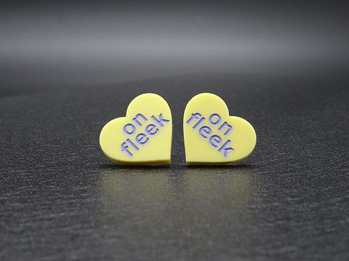 Mini Heart ON FLEEK yellow