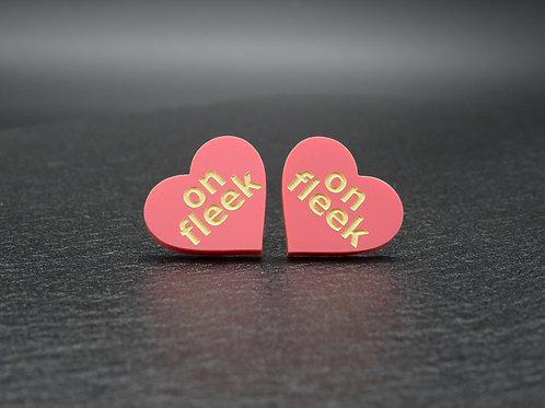 Mini Heart ON FLEEK rose