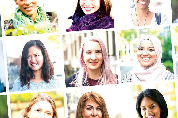 Collage of women's faces