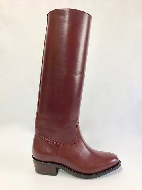 Burgundy Cuban Heel