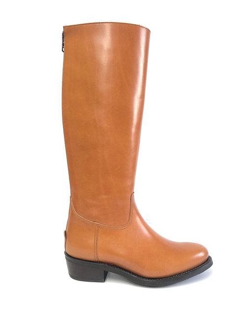 Tan Cuban Heel - ZIP