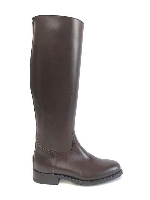 Chocolate Brown Flat Heel - ZIP