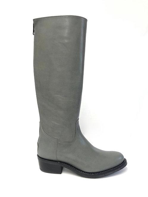 Grey Cuban Heel - Zip