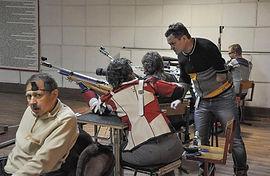 пулевая срельба среди  инвалидов, пневматика, соревновнования в Наро-Фоминске 23 декабря 2017 года