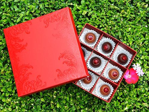 Шоколадні цукерки з кизилом 9шт