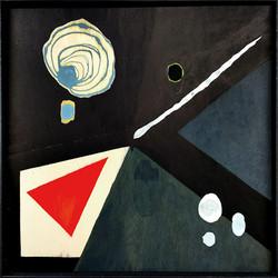 Komposition mit rotem Dreieck