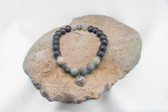 Amazonite and Hematite Bracelet