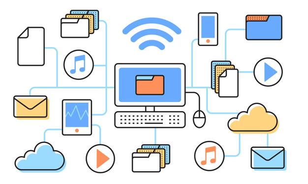 Toda a gama de conexões que você faz através do computador