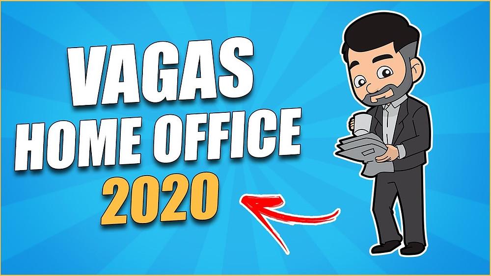 publicidade anunciando vagas para home office