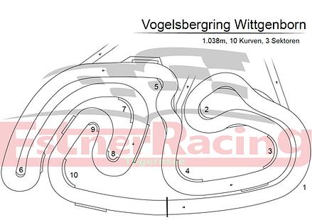 Streckenplan Vodelsbergring Wittgenborn