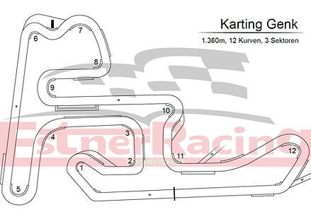 Streckenplan Karting Genk