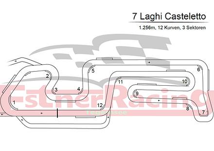 Streckenplan 7 Laghi Casteletto
