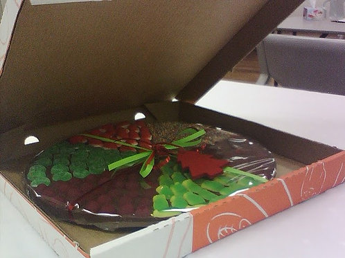 Christmas Themed Large Chocolate Pizza