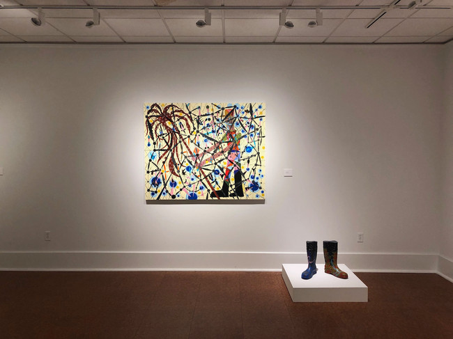 Installation View, Mosquitoes and Rubber Rain Boots