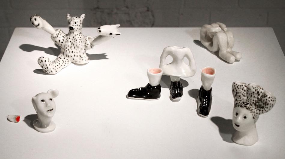Ceramic Sculptures Installation, 2013. V