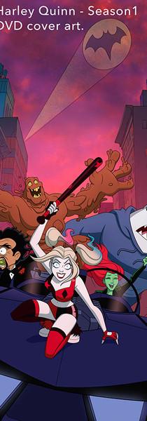 Harley Quinn DVD cover art for 1st Season