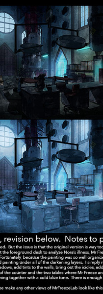 Art Direction - Harley Quinn - Mr Freeze's Lab