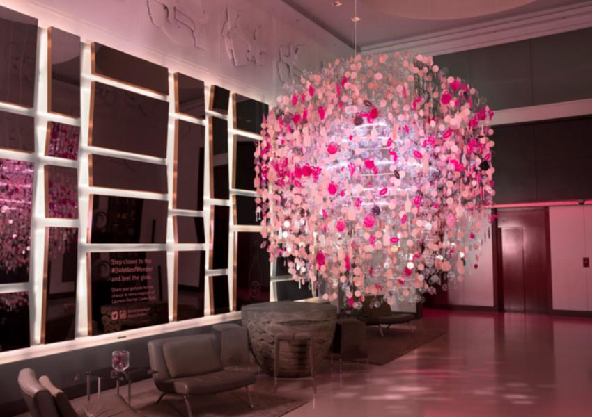 Laurent-Perrier Cuvee Rose. Bubble of Wonder. Andaz Hotel Liverpool Street.