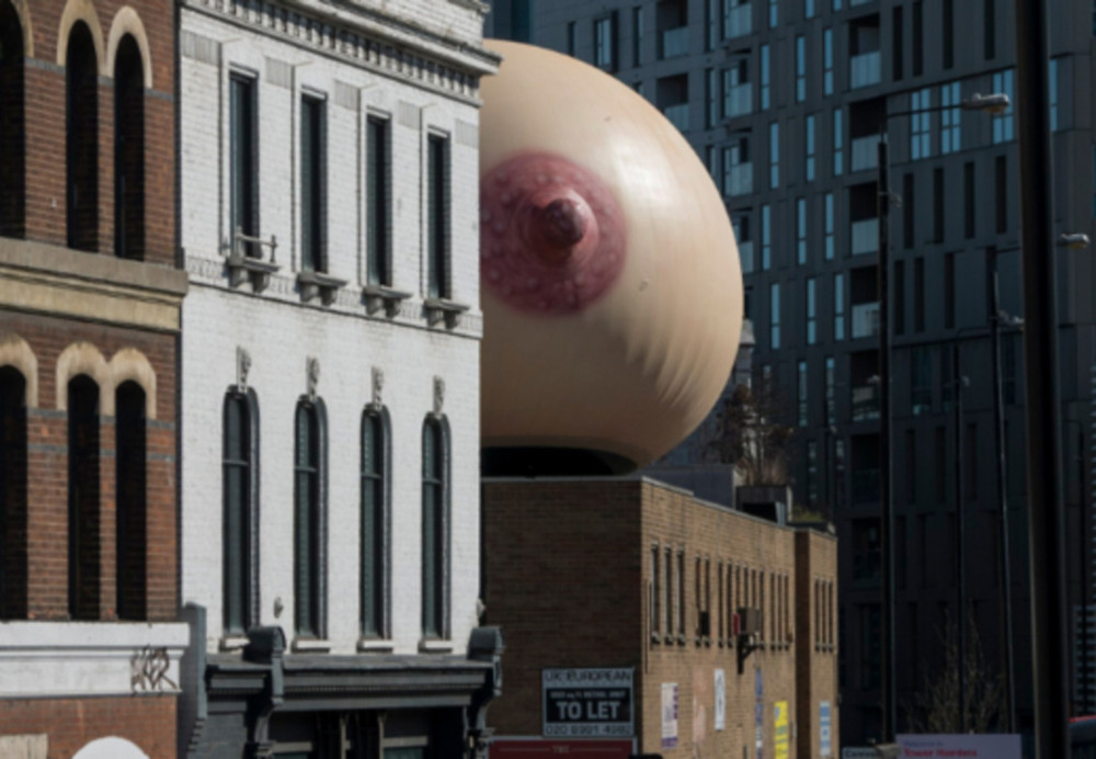 Opinion. Mother's Giant Inflatable Shoreditch Breast.