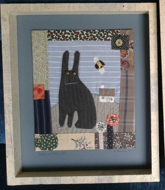 fabric picture of hare