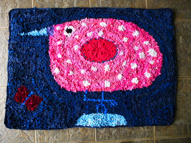 bird rag rug