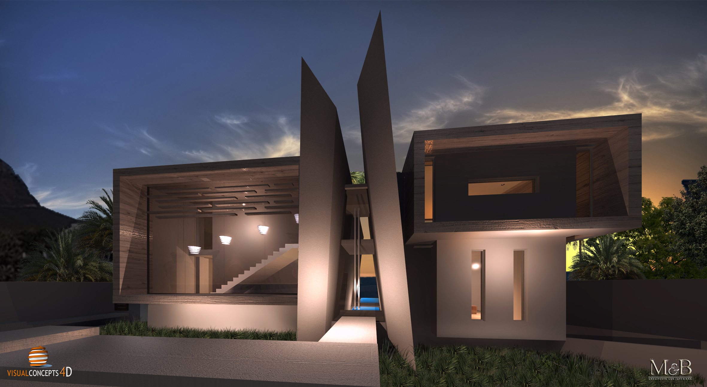 ENTRANCE EVENING RENDER