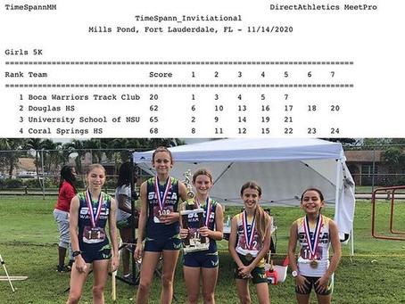 Girls' MS Team Places 1st
