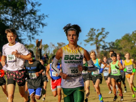 Hunter Morgan, selected by the Sun Sentinel (voted by coaches) All Broward County, High School Cross