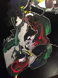 peinture technique mixte