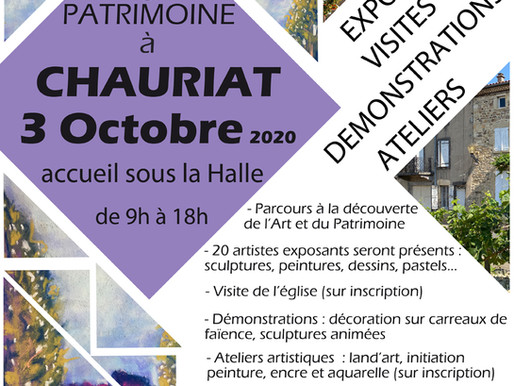 Artistes - Samedi 3 octobre 2020