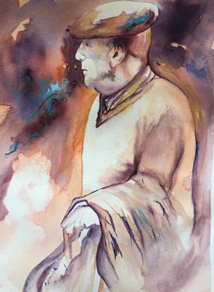 aquarelle papy