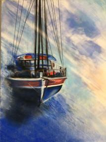 pastel bateau