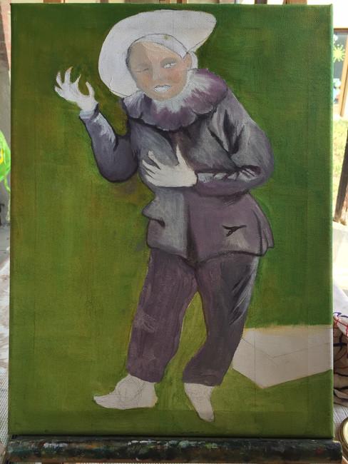 Peinture à l'huile en cours de réalisation