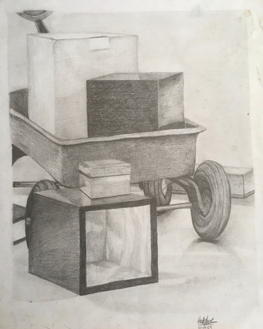 Drawing 101, Graphite on paper.  Fall 2009