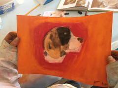 pastel chien