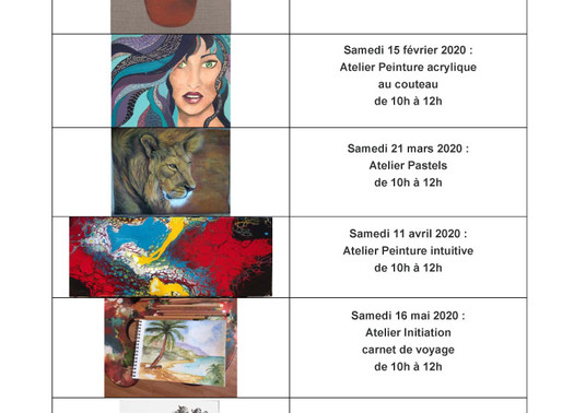 Planning ateliers adultes