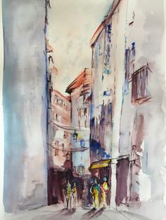 aquarelle ville